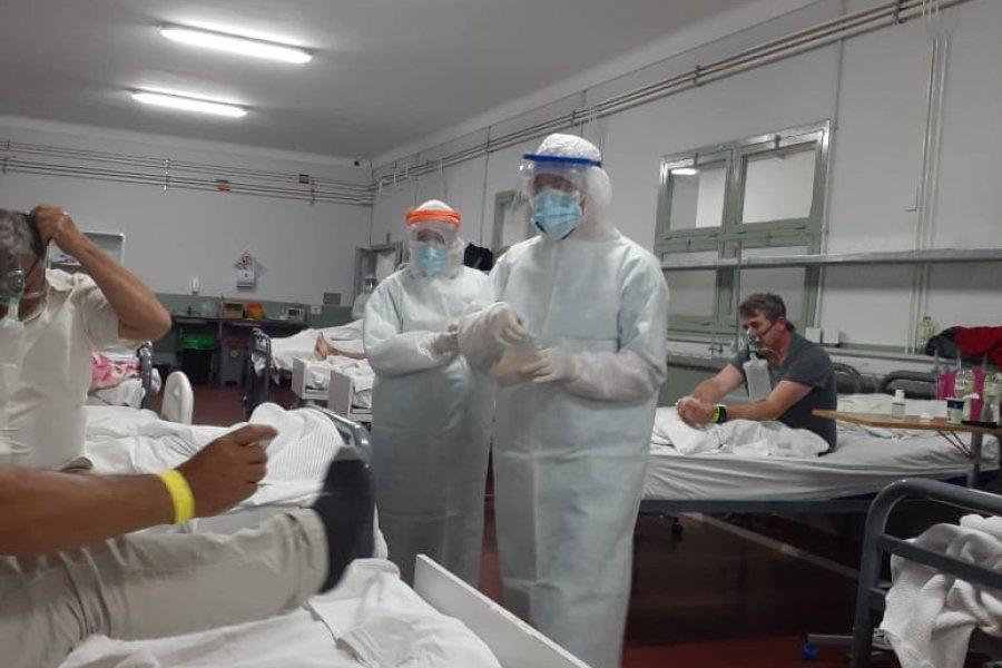 Monseñor Andrés Stanovnik visitó a los pacientes del Hospital de Campaña