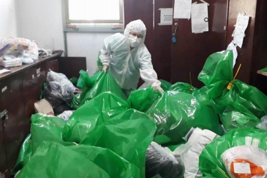 El Hospital de Campaña, saturado con las pertenencias de los pacientes