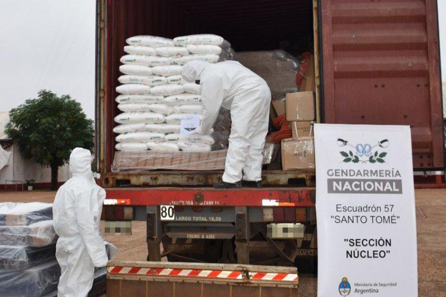 Decomisaron 1.500 kilos de hidróxido de sodio en Corrientes