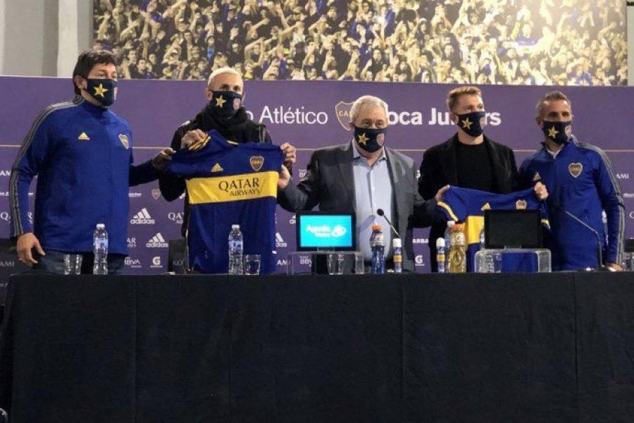 Boca presentó oficialmente a Briasco y Rolón como sus nuevos refuerzos