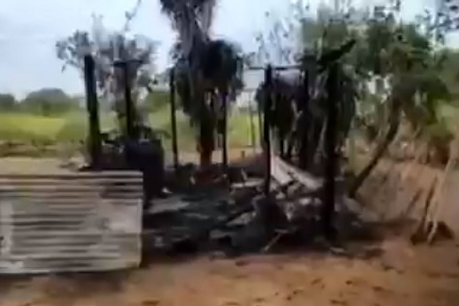 Un hombre murió tras incendiarse su vivienda en Bella Vista