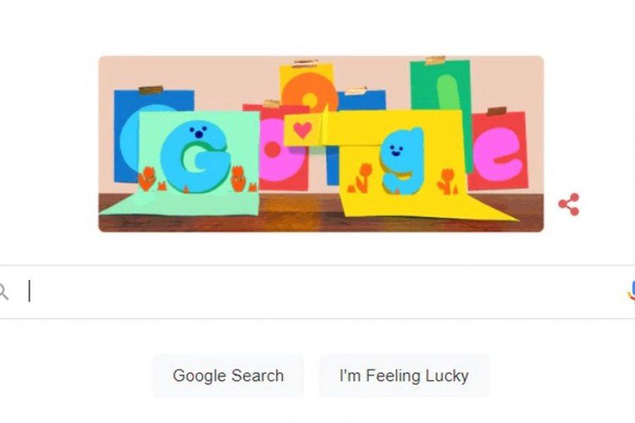 Google rindió homenaje a los papás con un colorido doodle
