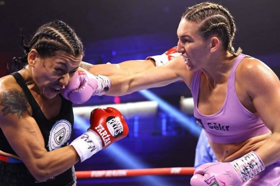 Érica Farías perdió ante Mikaela Mayer y se quedó sin título del mundo