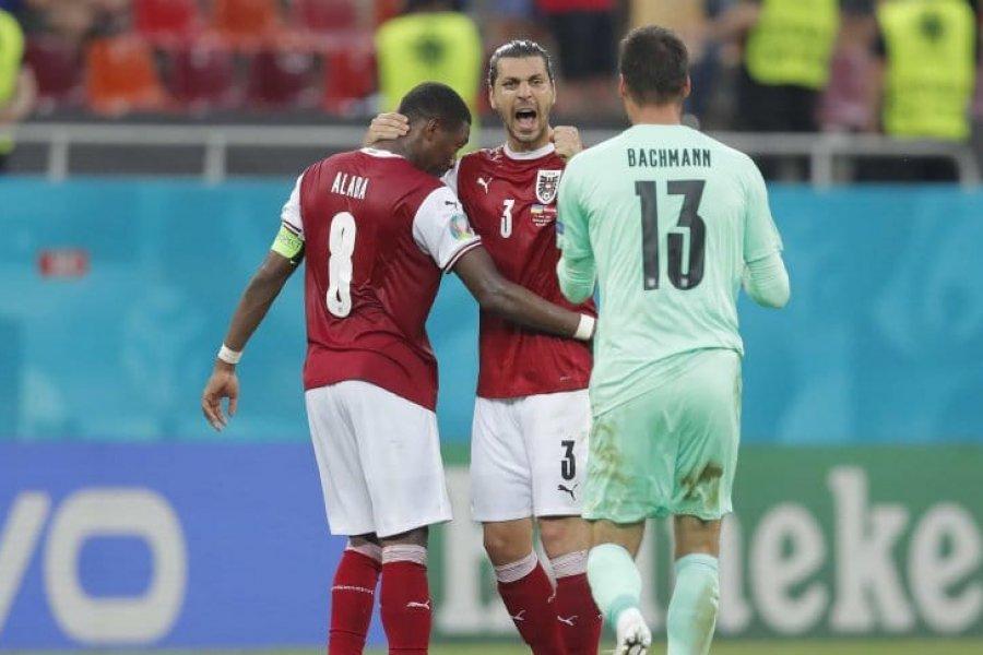 Austria derrotó a Ucrania y se metió en octavos de final con Países Bajos