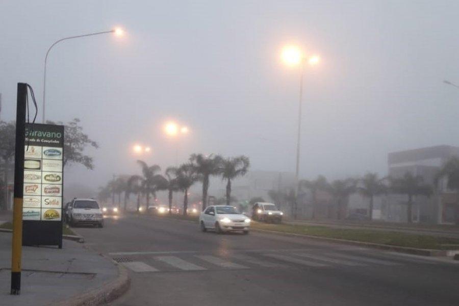 Intensa niebla en la ciudad de Corrientes