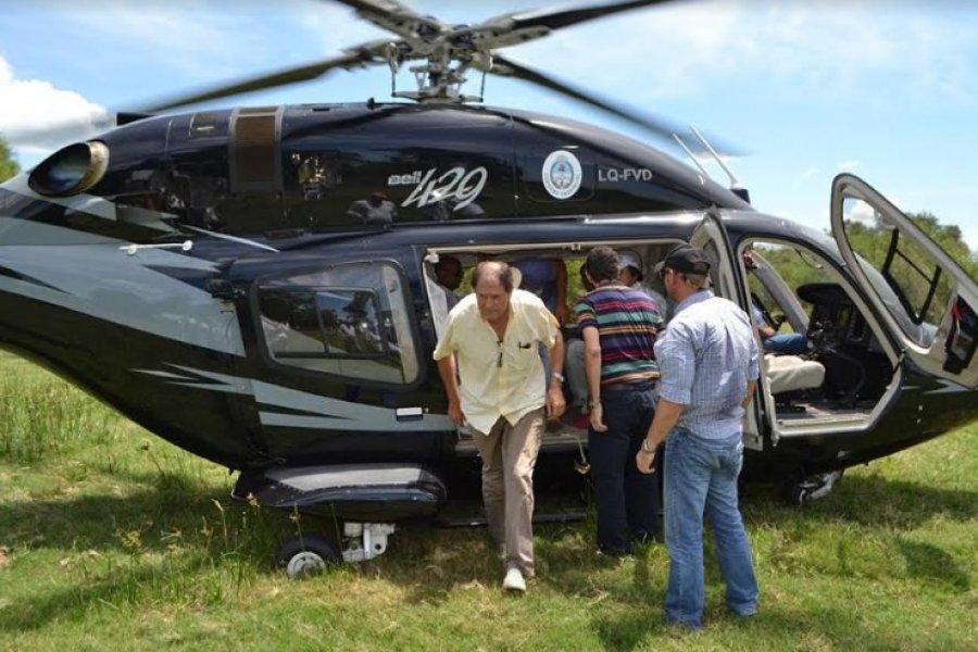 Helicóptero oficial al servicio: Costo en dólares y contratación directa