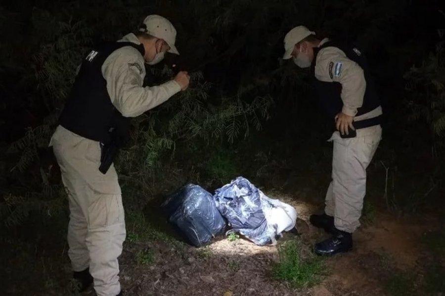 Secuestraron más de 100 kilos marihuana a orillas del río Paraná