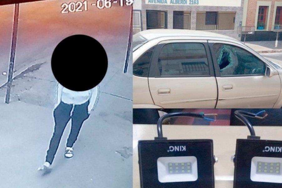 Demoraron a un menor por robos a vehículos estacionados cerca de una Comisaría