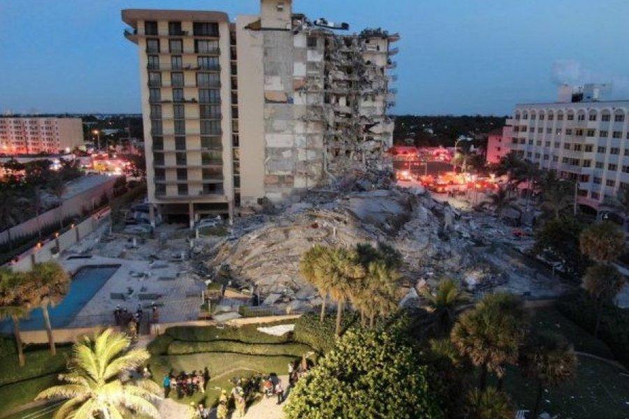 Miami: Buscan a un médico correntino y su familia tras el derrumbe de un edificio