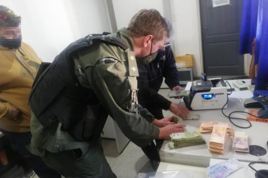 Corrientes - Salta: Gendarmería incauta más de 2 millones de pesos sin aval legal