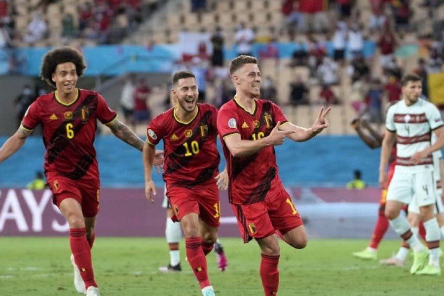 Bélgica superó a Portugal y clasificó a los cuartos de final de la Eurocopa 2021
