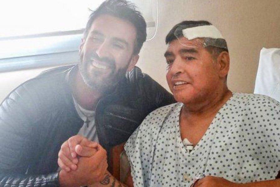 Luque presentó una foto de Maradona para justificar que no estaba hinchado
