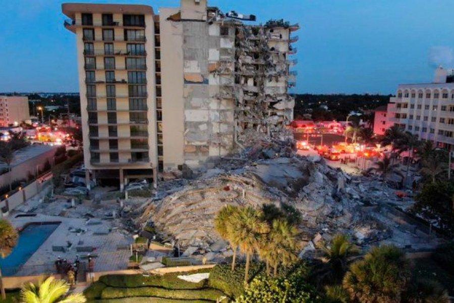 Derrumbe en Miami: ya no buscan sobrevivientes