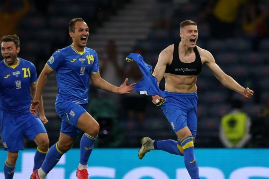 Ucrania venció de manera agónica a Suecia y se metió en cuartos de final