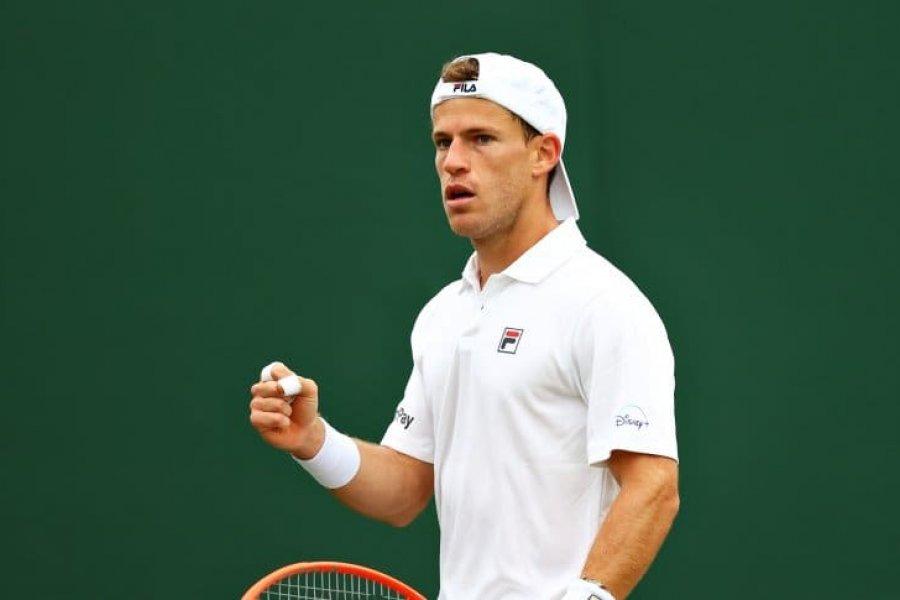 Diego Schwartzman ganó y es el único argentino que sigue con vida en Wimbledon