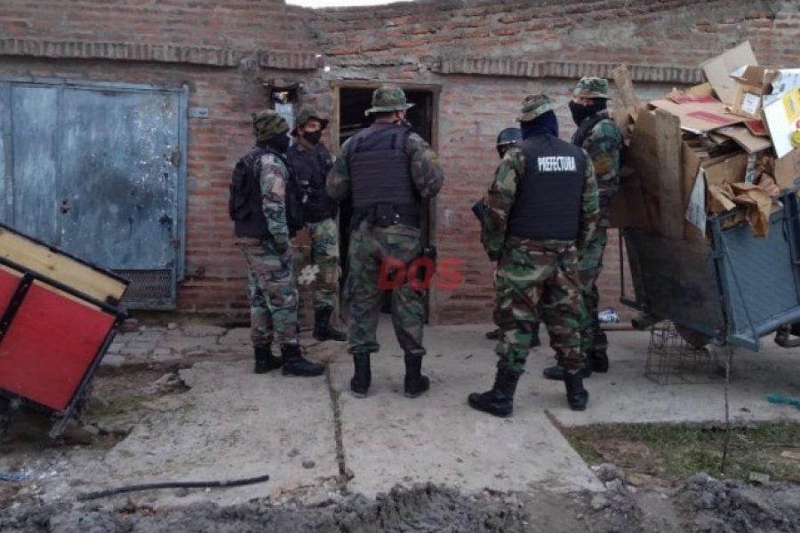 Corrientes: Prefectura y Policía realizan varios allanamientos en simultáneo