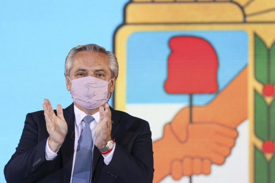 """Fernández evocó a Perón y advirtió que la salida de la pandemia es con """"unidad y sin falsas grietas"""""""