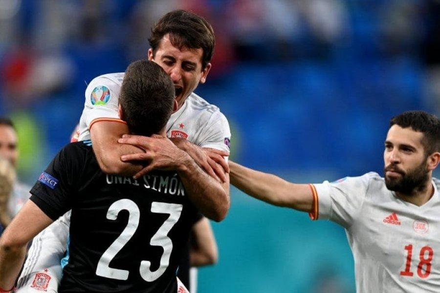 España venció a Suiza por penales y avanzó a las semifinales