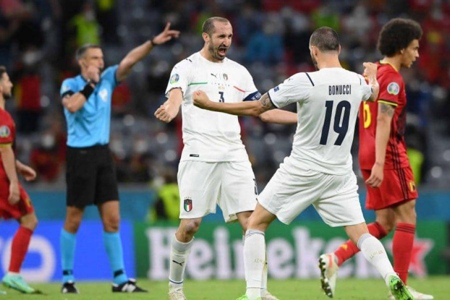 Italia derrotó a Bélgica y se metió en la semifinal