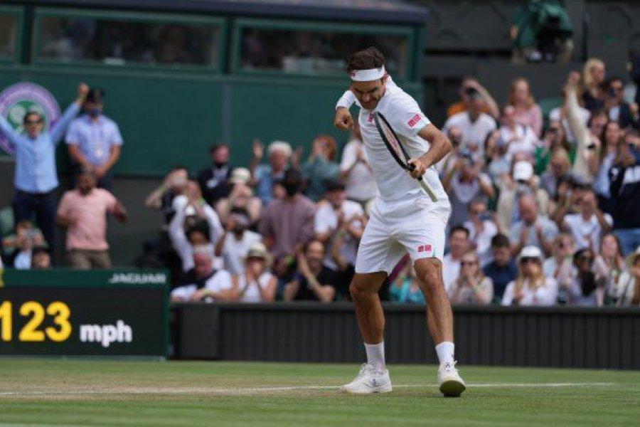 Federer, en octavos de Wimbledon con casi 40 años
