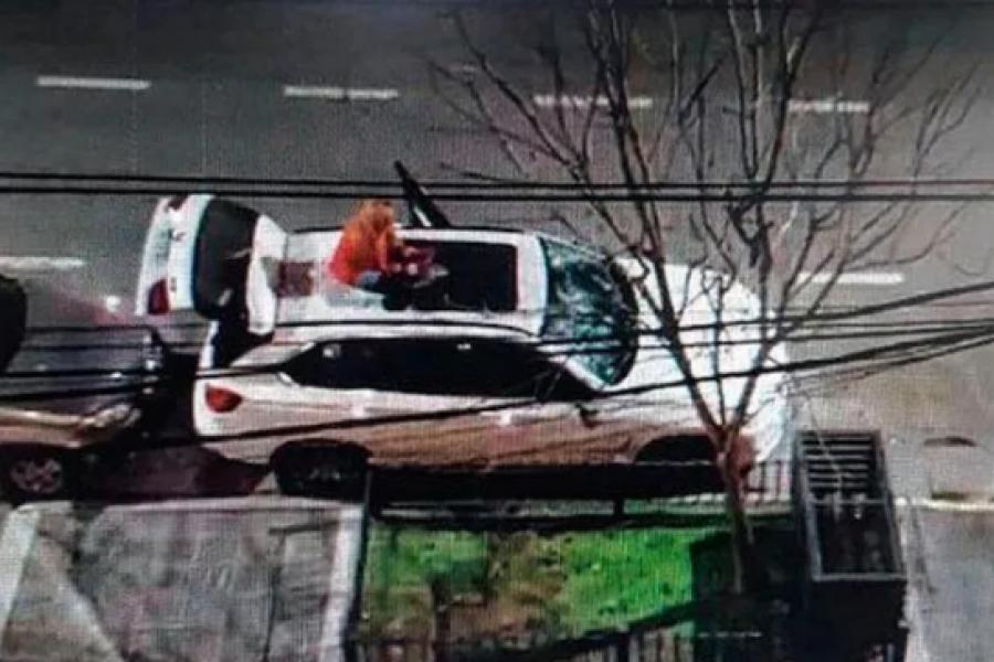 El dueño de la camioneta que una mujer destrozó con un matafuego está internado tras sufrir un ACV