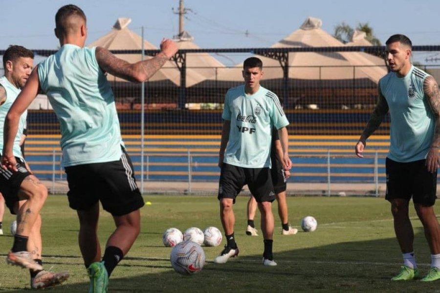 La Selección Argentina, último entrenamiento en Brasilia y viaje a Río de Janeiro