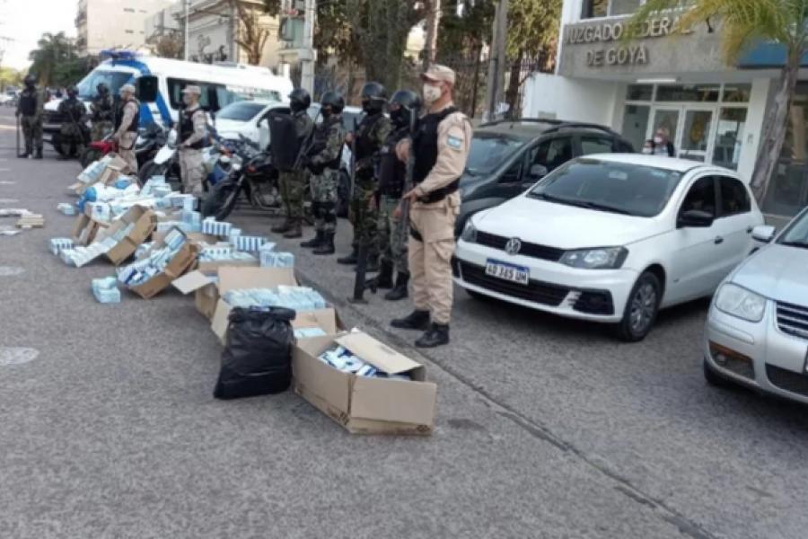 Corrientes: Tras 29 allanamientos desarticularon megabanda narco internacional