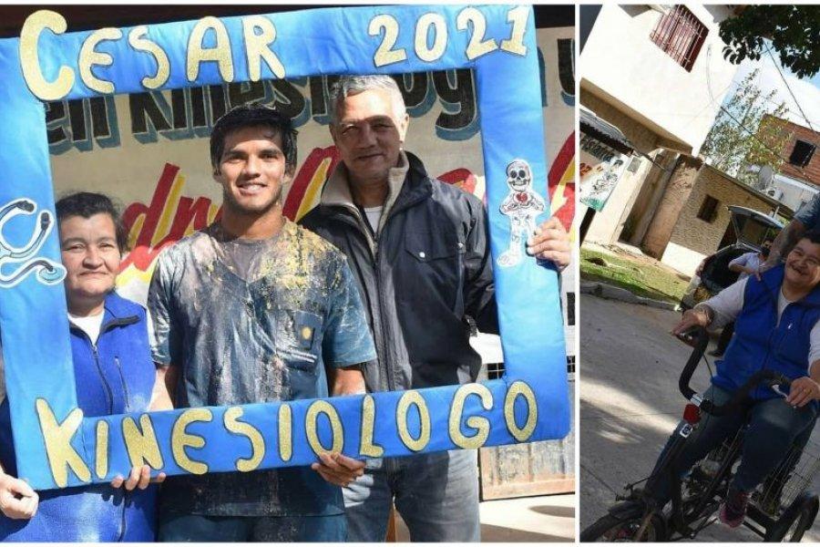 Leandro, el joven de origen humilde que logró recibirse de Kinesiólogo en pandemia