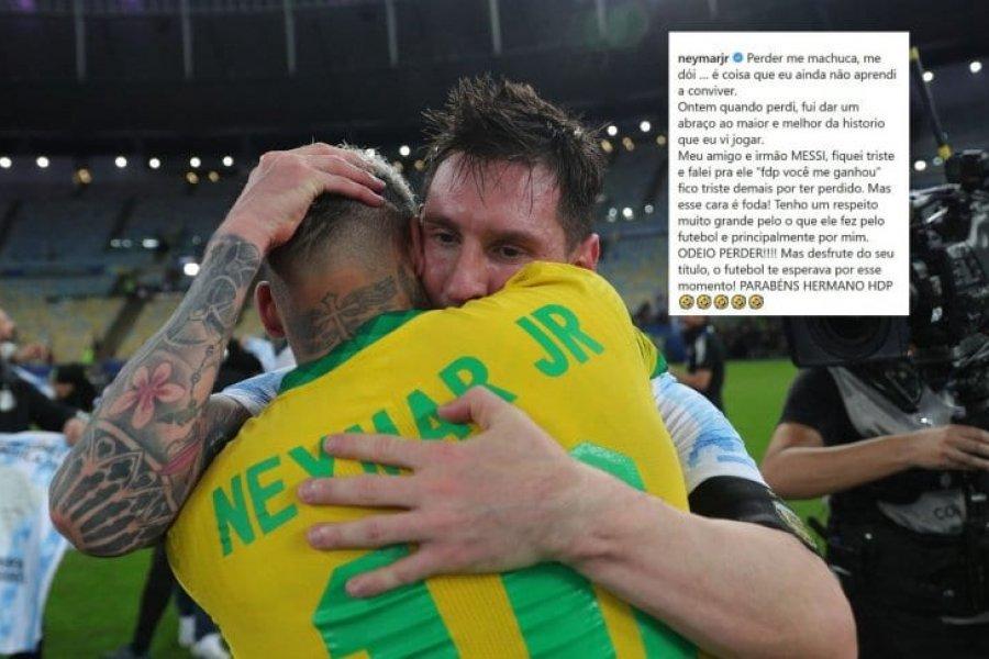 El emotivo mensaje de Neymar a Messi luego de la victoria de Argentina ante Brasil