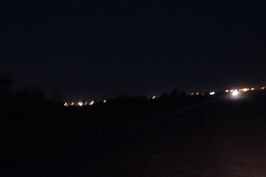 Casi un mes sin iluminación sobre avenida Santa Catalina