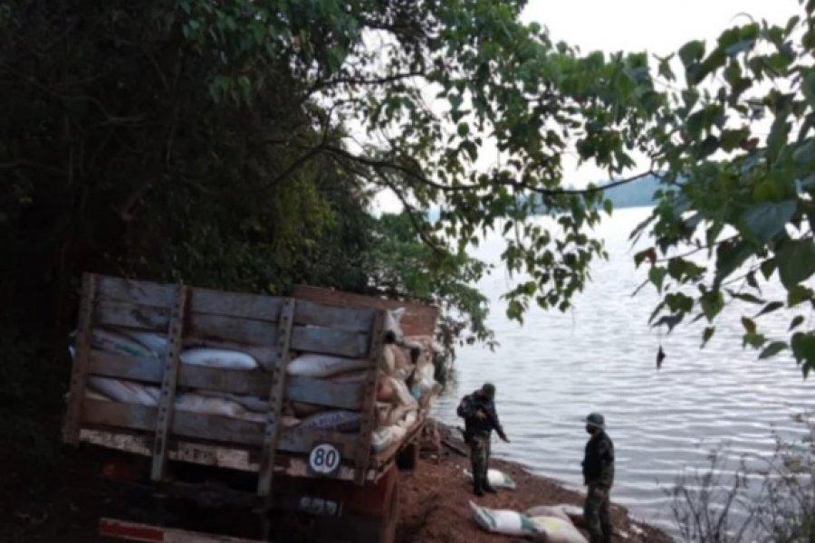 Prefectura secuestró 8.700 kilos de granos a orillas del río Uruguay