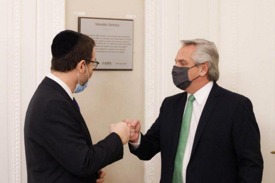 Alberto Fernández recibió a las máximas autoridades de la AMIA