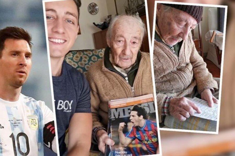 Messi mandó un saludo al abuelo de 99 años que anota todos sus goles