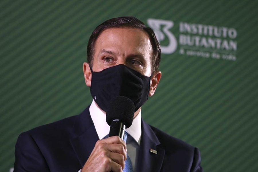 El gobernador de San Pablo contrajo coronavirus por segunda vez, pese a estar vacunado