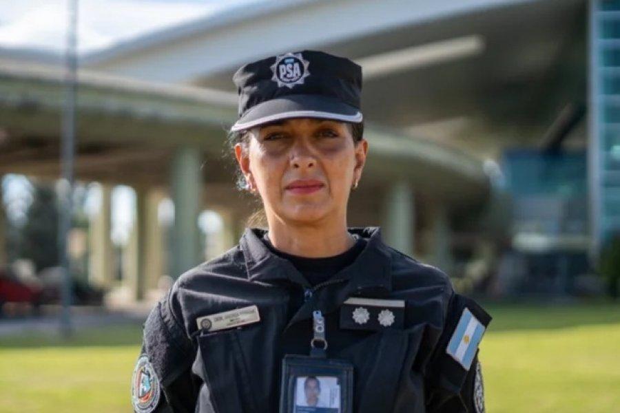 La inspectora Andrea Cieri asumió como nueva jefa de seguridad aeroportuaria de Corrientes