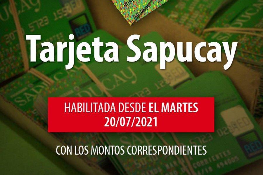Desde este martes 20 se habilitan las tarjetas Sapucay