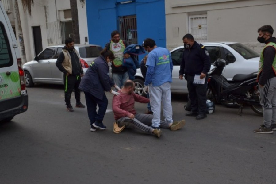 Un descuido, terminó con un motociclista herido
