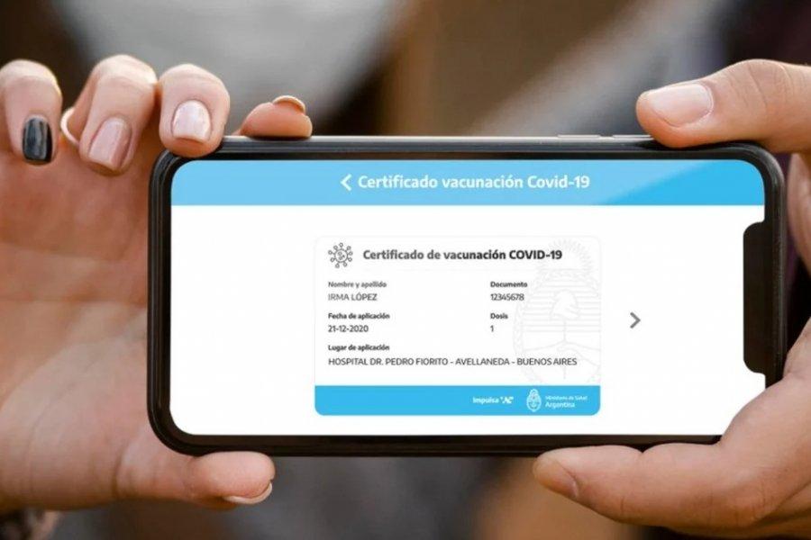 Personas vacunadas pueden generar su credencial digital en la app Mi Argentina
