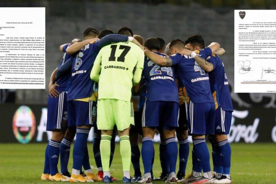 Boca hizo el pedido para suspender los partidos con Banfield y San Lorenzo