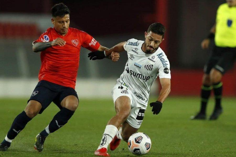 Independiente no pudo con Santos y quedó eliminado de la Copa Sudamericana