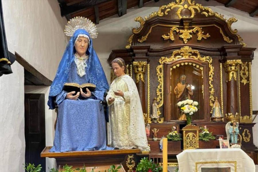 Con la Virgen peregrina de Itatí, Santa Ana celebra sus patronales