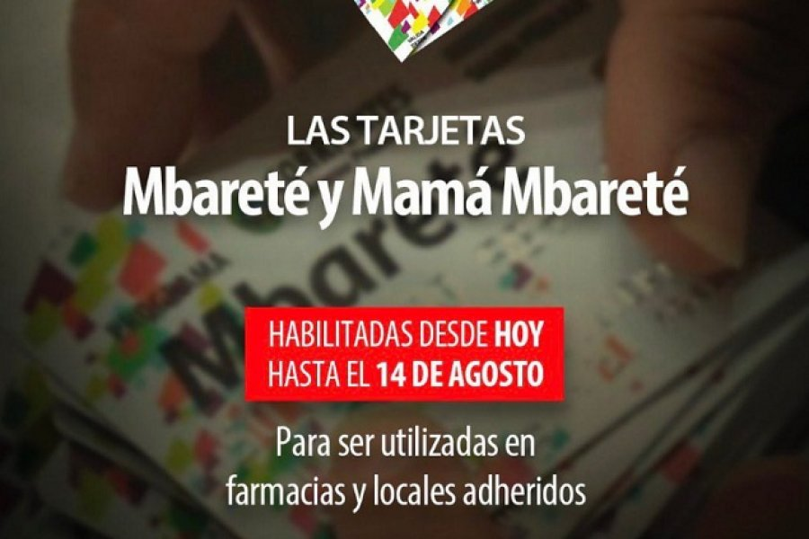 Habilitan las tarjetas Mbareté y Mamá Mbareté