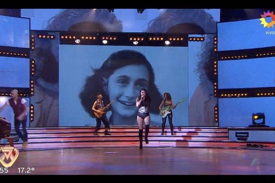 Repudian el uso de la imagen de Ana Frank durante una presentación musical