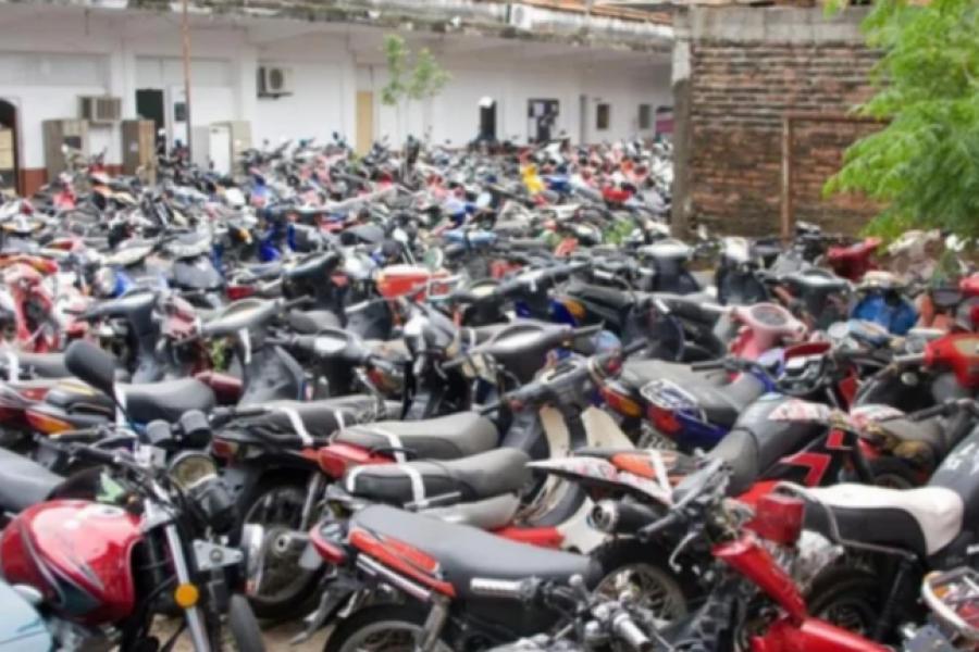 Depósito: En pandemia secuestraron 230 motos, apenas siete menos que en 2019