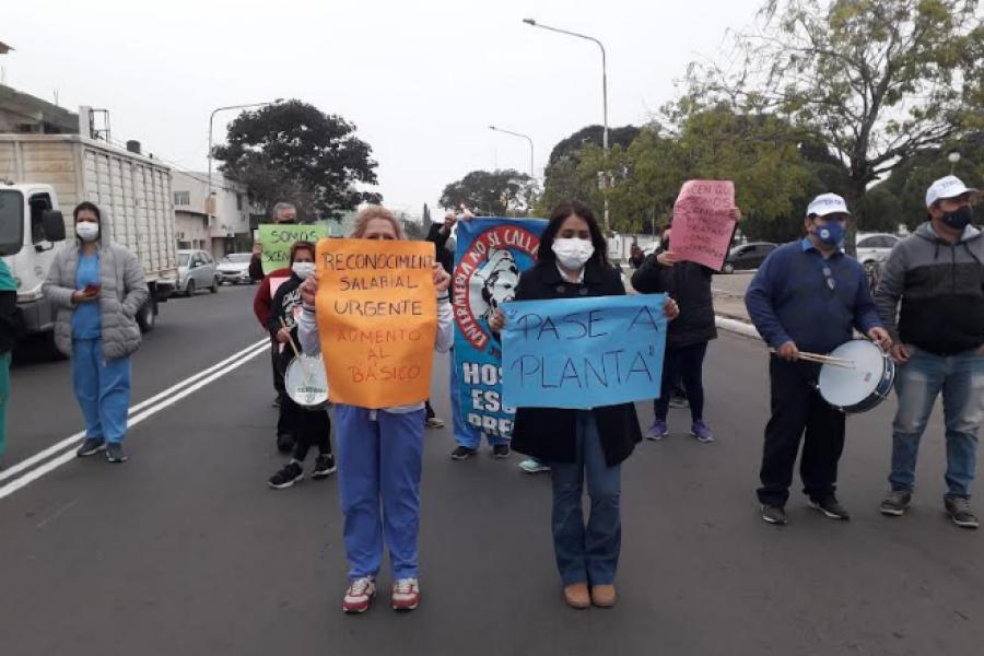Corrientes: Nueva protesta de médicos y enfermeros del Hospital Pediátrico