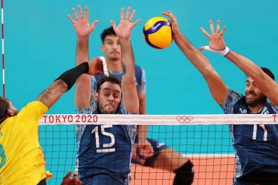 La Selección Argentina de vóley cayó ante Brasil por los Juegos Olímpicos de Tokio