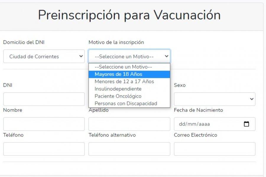 Corrientes: Está habilitada la inscripción de vacunación para mayores de 12 años