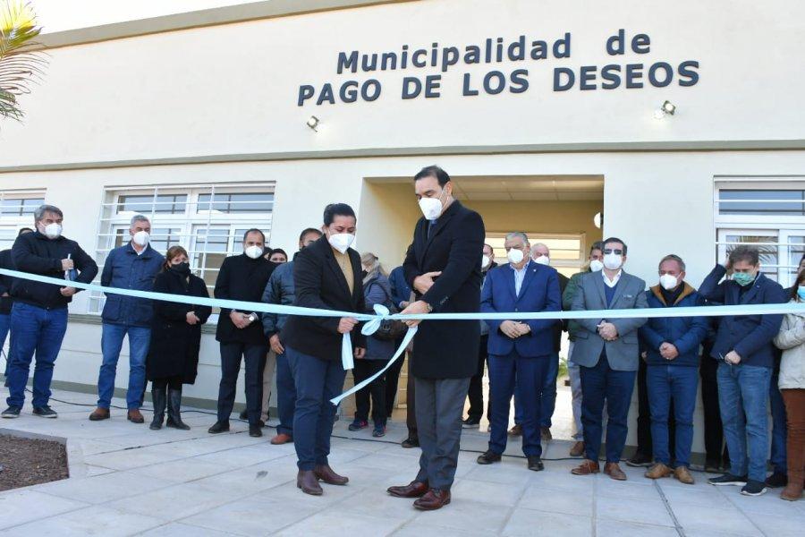 Nueva municipalidad en Pago de los Deseos: Apertura de flamante edificio