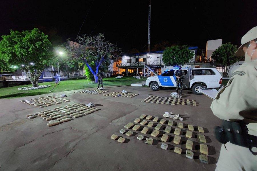 Prefectura secuestró más de 150 kilos de marihuana en Paso de la Patria