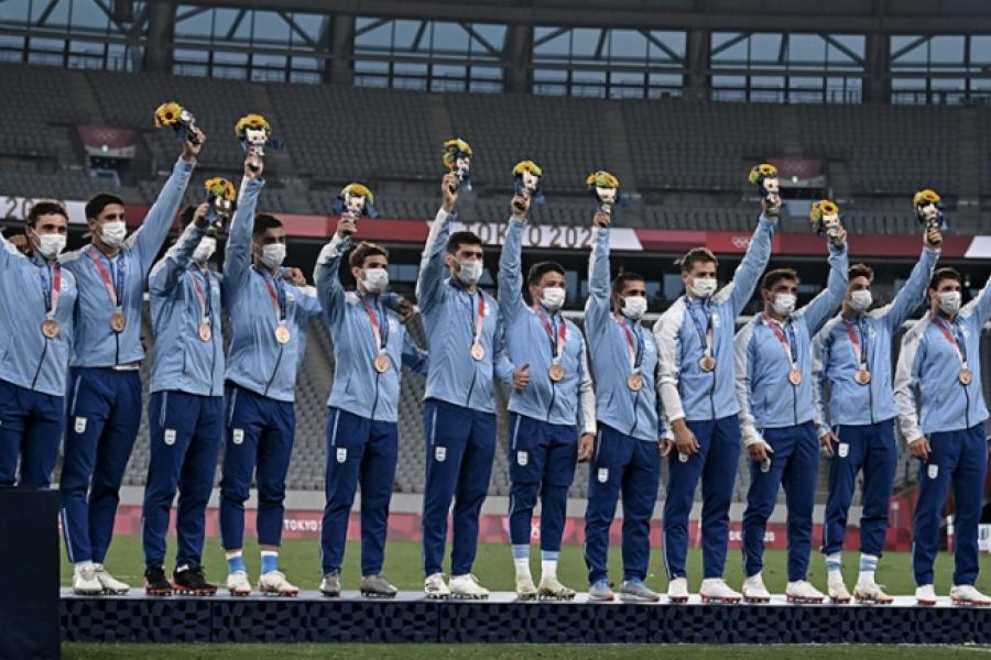 Argentina logró su primera medalla: Los Pumas